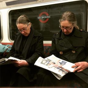 Twin by Fon Simó iphoneonly, iphonesia, lategram, london, passengers, picoftheday, pictureoftheday, streetphotography, tube, underground,