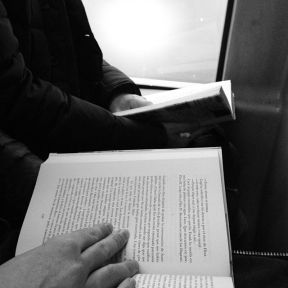 Reading passengers. by Paula Jarrin passengers,