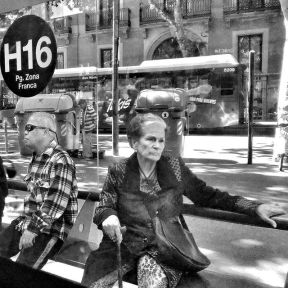 Waiting for the next... deep reflection. by Godo Chillida barcelona, bkackandwhite, black_and_white, bn, bnw, bnw_life, bnw_society, busstop, bw, bw_lover, bw_photooftheday, bw_planet, lady, monochrome, noir, passengers, reflection, streetphoto, streetphotography, streetphotography_bw, streetphoto_bw, ubiquography, waitingfor, woman,
