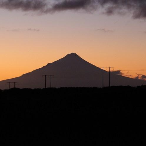Mount Taranaki, from our bedroom window