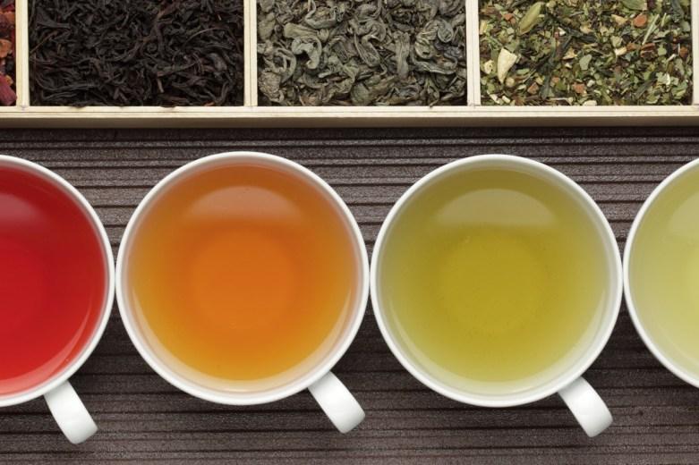 couleurs de thé