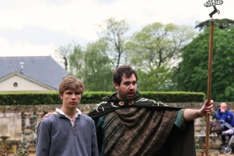 """Arthur et Merlin, spectacle """"l'Avènement du roi Arthur"""""""