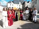 La troupe à la fête médiévale de Tours le 25/09/16