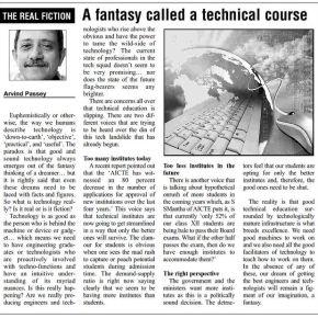 A fantasy called a technical course