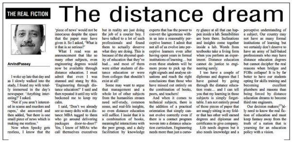 2012_01_28_The Education Post_Real Fiction_The Distance Dream