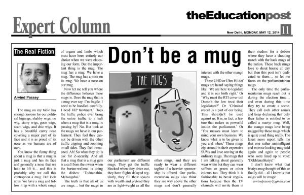 2014_05_12_The Education Post_Don't be a mug