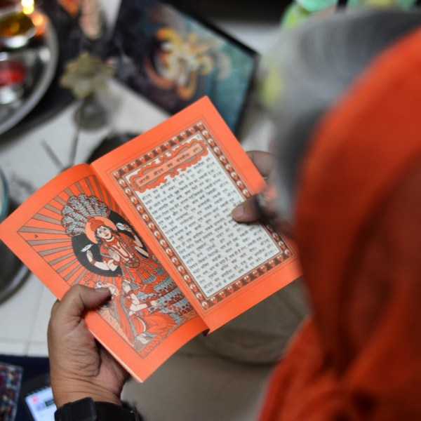 My Diwali 2014 photo-essay. Pooja means reciting aartis and other prayers...