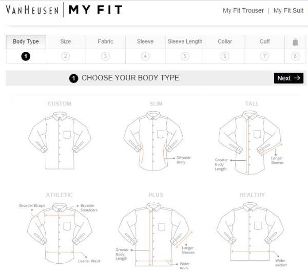 Van Heusen_shirt fit