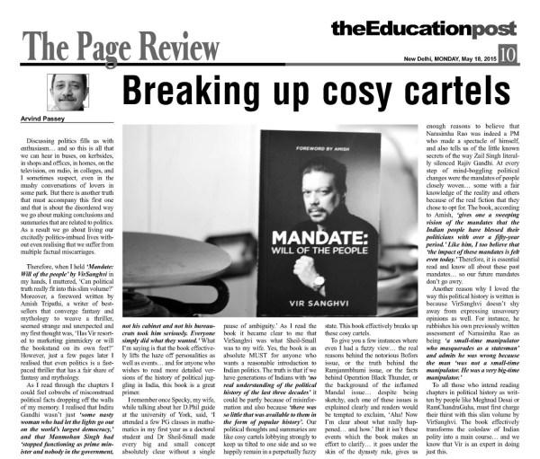 2015_05_18_The Education Post_Review_Mandate_Vir Sanghvi