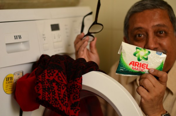 My #WashBucketChallenge begins with a lot of help from Ariel Matic