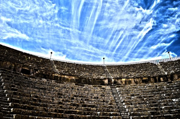 The Roman amphitheatre at Jerash... will be talking about all this in detail in other posts