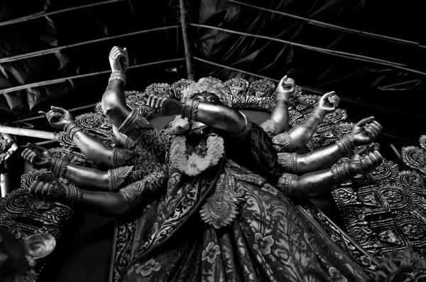 Durga Puja 2015. In b/w too the might of a Goddess is obvious