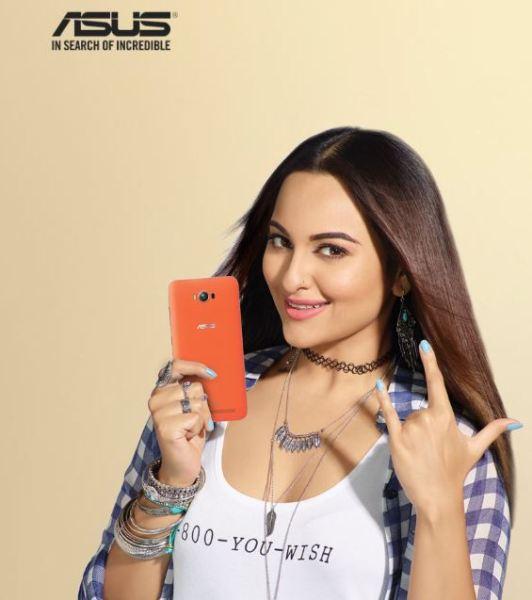 Asus Zenfone Max... Sonakshi Sinha is the brand ambassador!