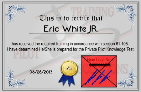 Signoff Certificate