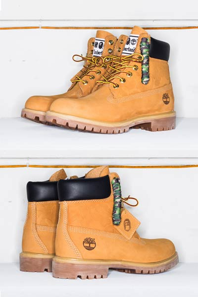 undefeated x bape x timberland boots 6inch