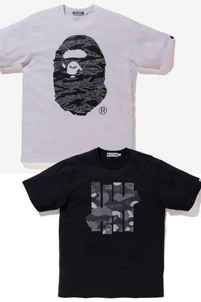 undefeated x bape x timberland tee-shirt