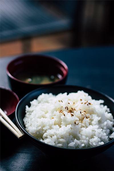 bol de riz, excellent pour soigner la gastro