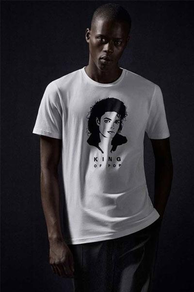 Hugo Boss x Michael Jackson t-shirt blanc