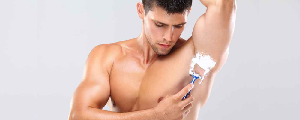 se raser sous les bras homme transpiration