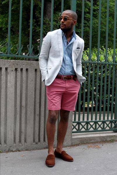 look homme short et blazer
