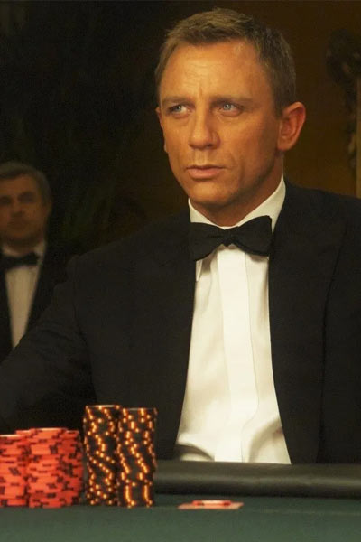 james bond poker face