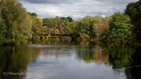 Train Trestle, Touch of Fall Color