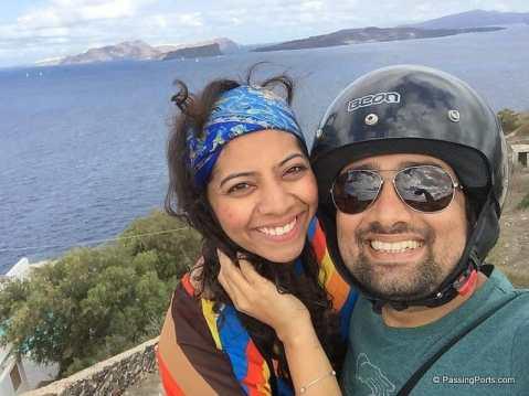 Bike Ride in Santorini