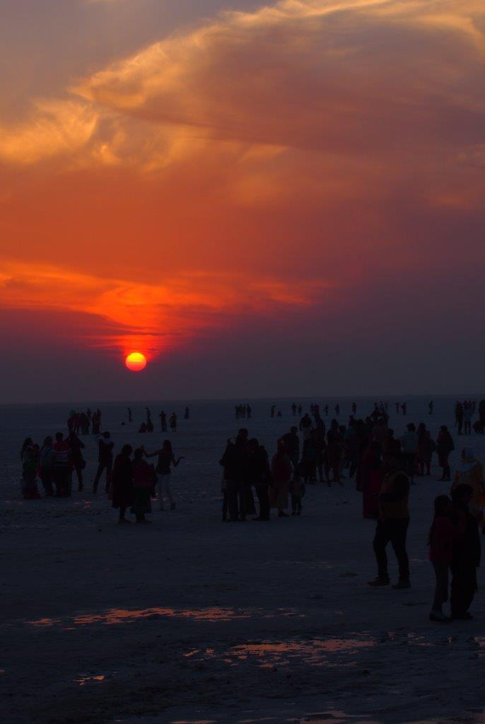 Sunset in Rann of Kutch