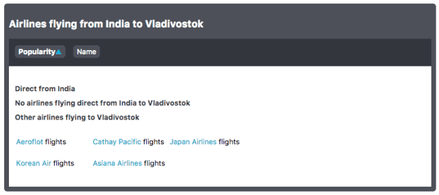 Flights from India to Russia Far East