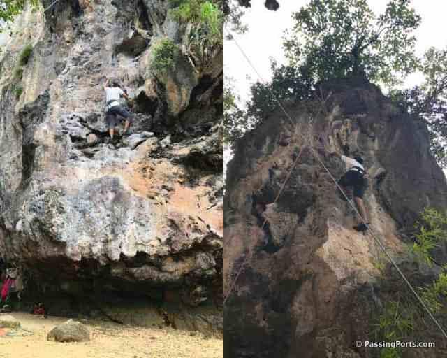Railay beach Rock Climbing
