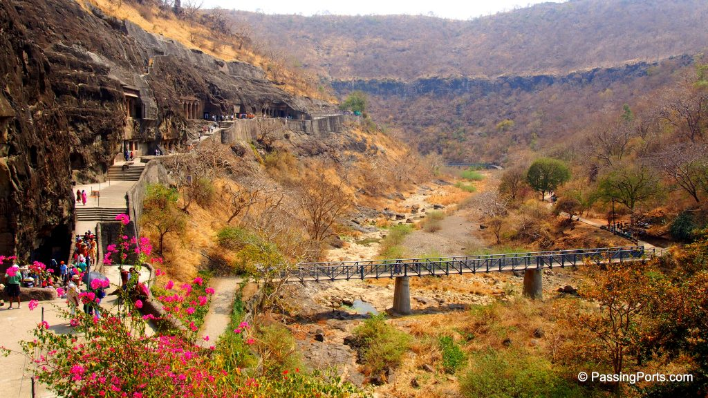 Panoramic view of Ajantha Caves