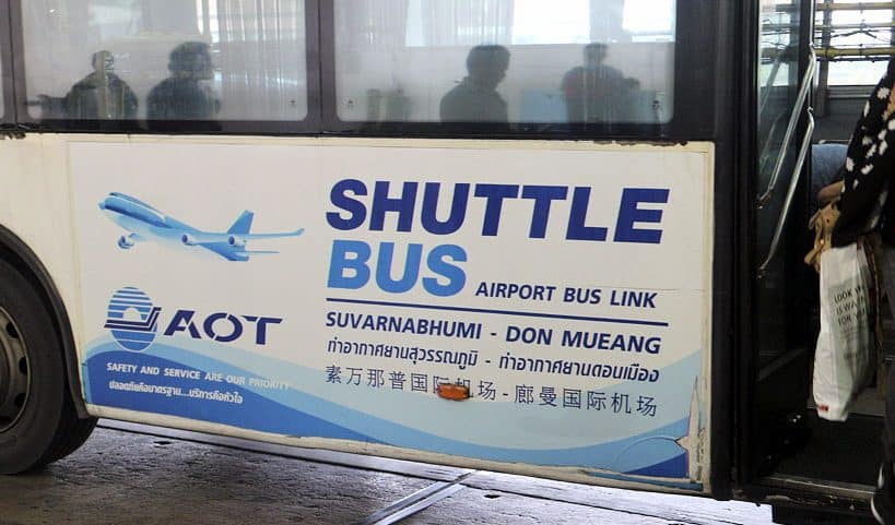 Bangkok BKK to DMK free airport shuttle