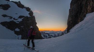 Levé du jour au Col des Avalanches