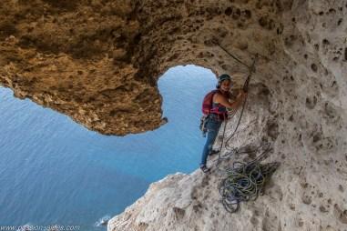 La sortie aérienne de la grotte
