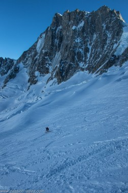 Ski sur le Glacier du Mallet