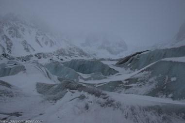 La mer de glace et ses vagues