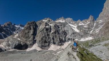 La moraine du Glacier Noir