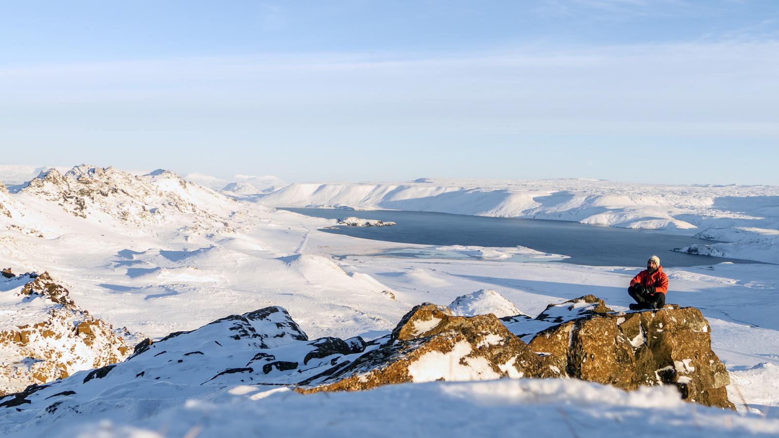 circuit Islande, randonnée sur la péninsule de Reykjavík en hiver