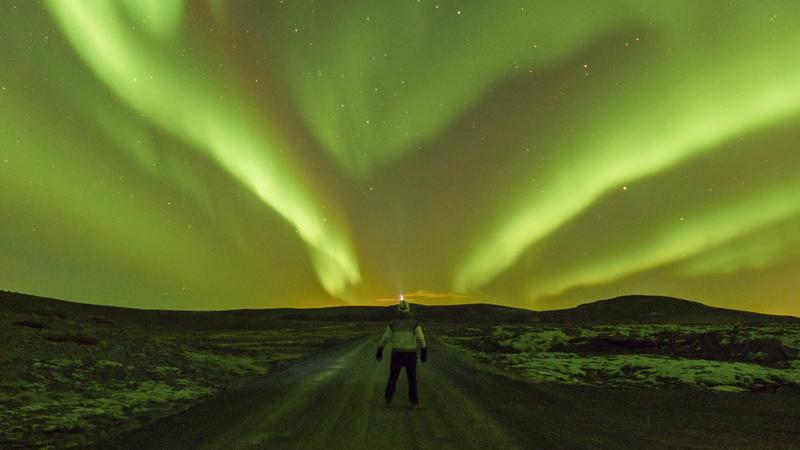 Climat et phénomènes naturels, le blog : Aurore boréale sur la péninsule de Reykjanes