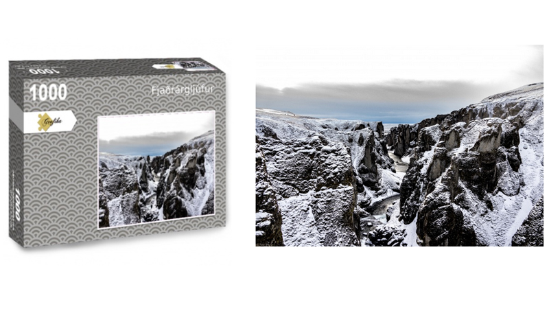 Fjaðrárgljúfur, puzzle 1000 pièces, par Jean-Yves Petit