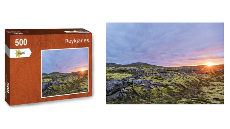 Reykjanes, puzzle 500 pièces, par Jean-Yves Petit