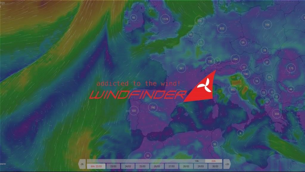 windfinder, site de prévision du vent