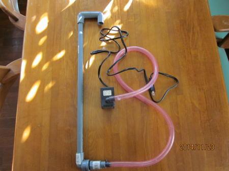 水耕栽培装置ポンプまわり