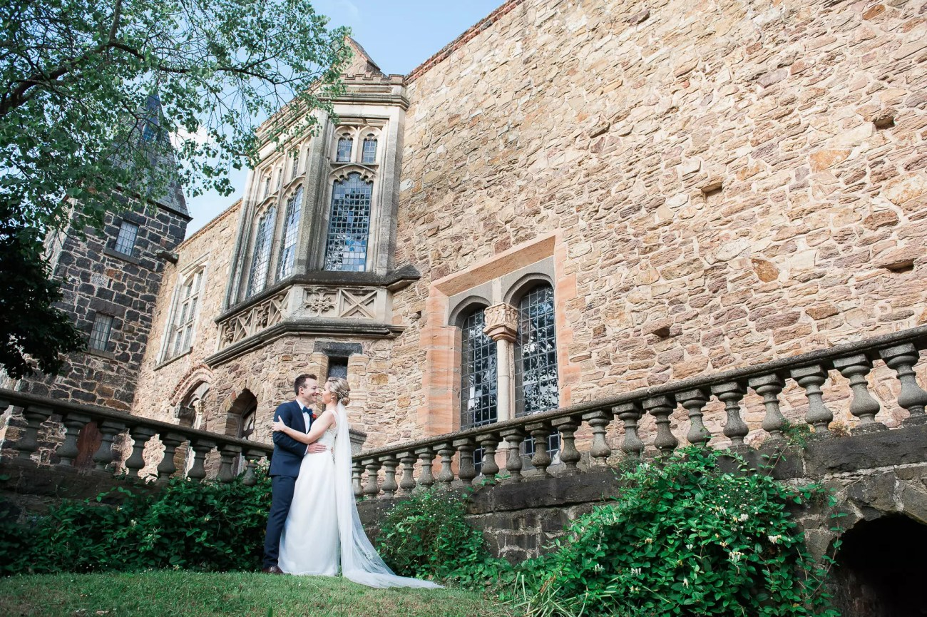 Wedding at Montsalvat bridal couple