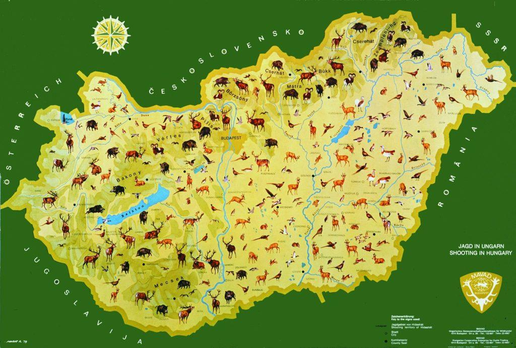 Hunting Map of Hungary