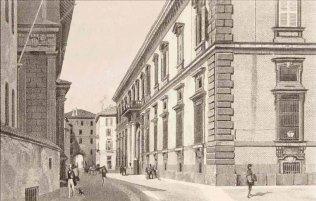 Facciata del palazzo di Brera nel 1786