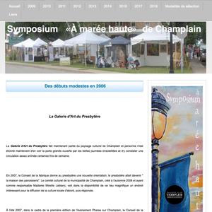 Symposium à Marée Haute de Champlain