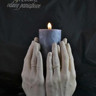 wazon z rąk, świecznik (odlew 4 dłonie) (2)