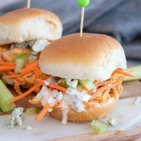 Buffalo Chicken Sliders (Perfect for Super Bowl Sunday!)