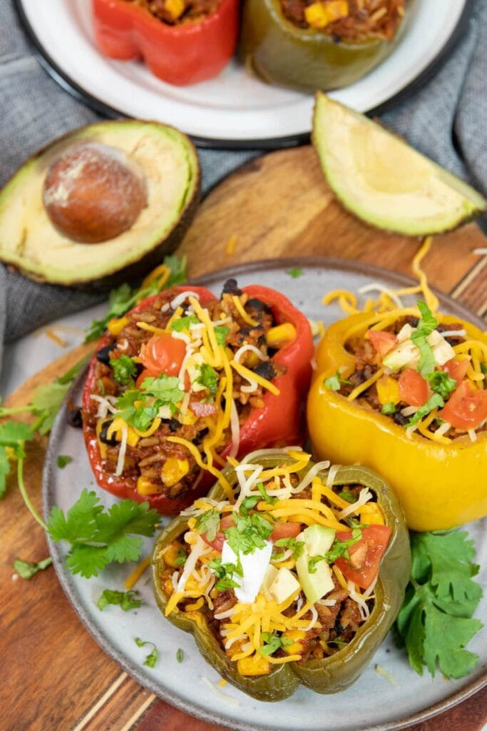peppers with avocado